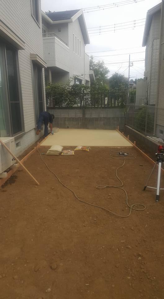 真砂土を使用した人工芝の設置